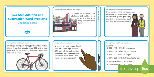 Image result for addition and subtraction word problems year 4