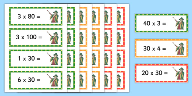 Year 3 Differentiated Multiplication Magic Activity Cards - multiplication magic, smile multiplication, multiplying multiples of 10, differentiated activity