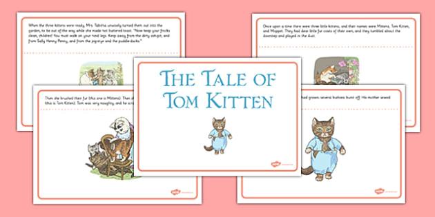 Beatrix Potter - The Tale of Tom Kitten Story - beatrix potter, tom kitten