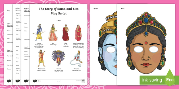 Rama and Sita Play Script Resource Pack - UKS2, LKS2, KS2, Year 3 R.E Hinduism, Year 4 R.E Hinduism, Year 5 R.E Hinduism, Year 6 R.E Hinduism,