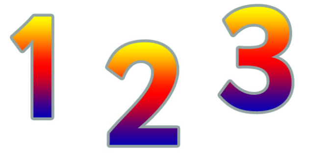 0-9 Display Numbers (Rainbow) - Display numbers, 0-9, numbers, display numerals, display lettering, display numbers, display, cut out lettering, lettering for display, display numbers