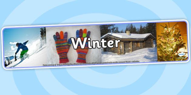 Winter Photo Display Banner - winter, photo display banner, photo banner, display banner, banner,  banner for display, display photo, display, picture, image