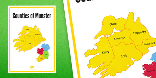 Counties of Munster Display Poster - counties, munster, display poster, display, poster