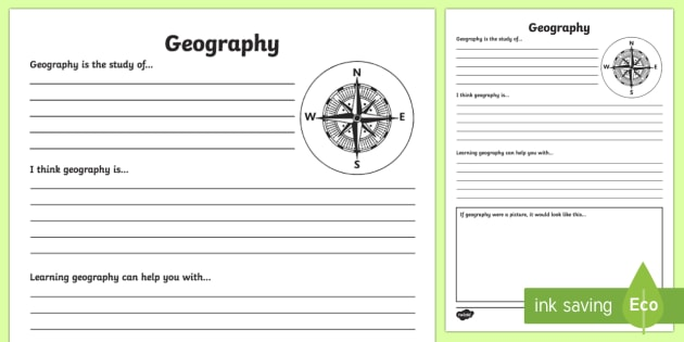 Geography Reflection Writing Template