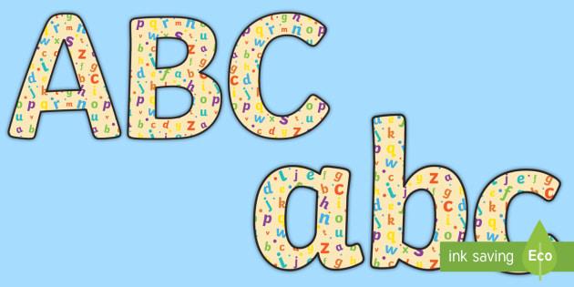 Alphabet Themed Display Lettering  - Alphabet Display Lettering - English lettering, English display, English display lettering, alphabet