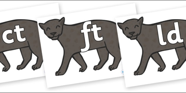 Final Letter Blends on Panthers - Final Letters, final letter, letter blend, letter blends, consonant, consonants, digraph, trigraph, literacy, alphabet, letters, foundation stage literacy