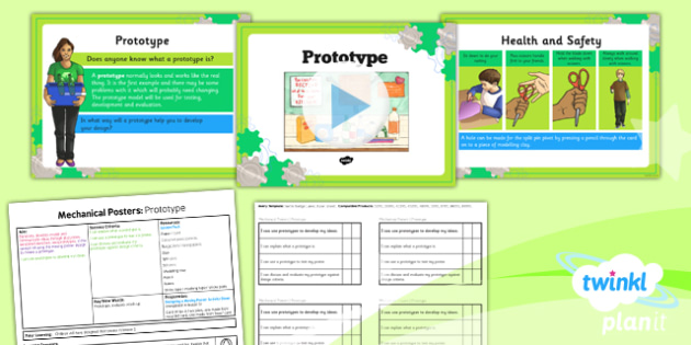 D&T: Mechanical Posters: Prototypes LKS2 Lesson Pack 4