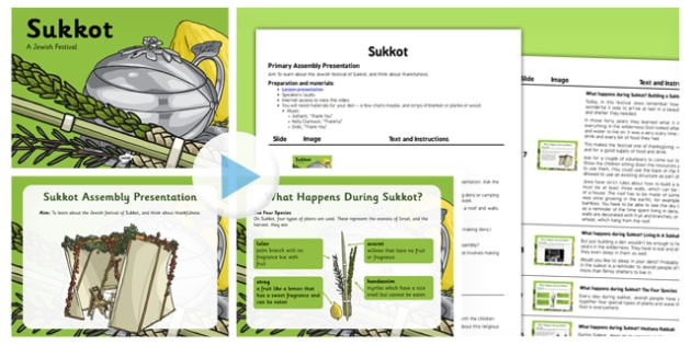 Sukkot Assembly PowerPoint and Script Pack - sukkot, assembly, powerpoint