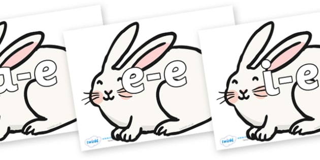 Split Digraphs on Chinese New Year Rabbit - Modifying E, letters, modify, Phase 5, Phase five, alternative spellings for phonemes, DfES letters and Sounds