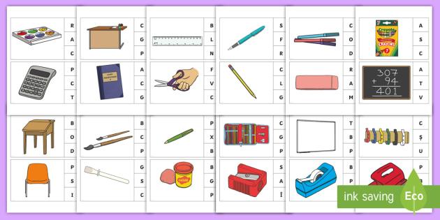 Obiecte cu litera m
