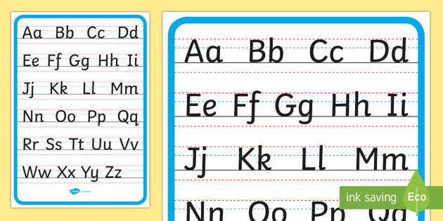 Upper And Lower Case Handwriting Letter Formation Display Poster