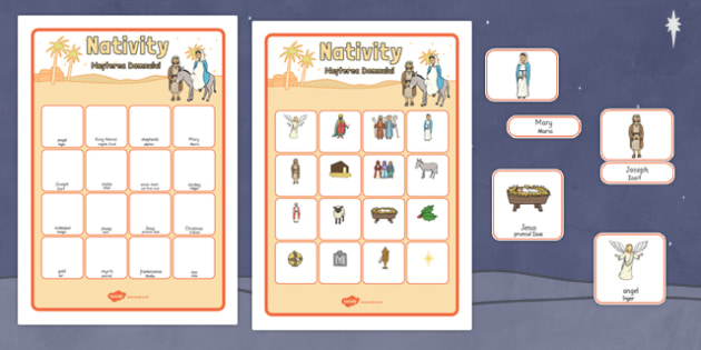Nativity Vocabulary Matching Mat Romanian Translation - romanian, nativity, vocabulary, matching, mat