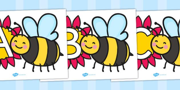 A-Z Alphabet on Bumblebees - Bumblebee, Alphabet, Display