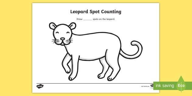 Free Leopard Spots Counting And Coloring Sheet Safari Safari