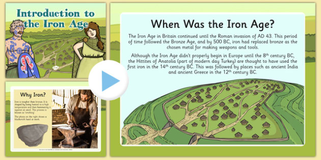 Introduction to the Iron Age PowerPoint - introduction, iron age, powerpoint, history