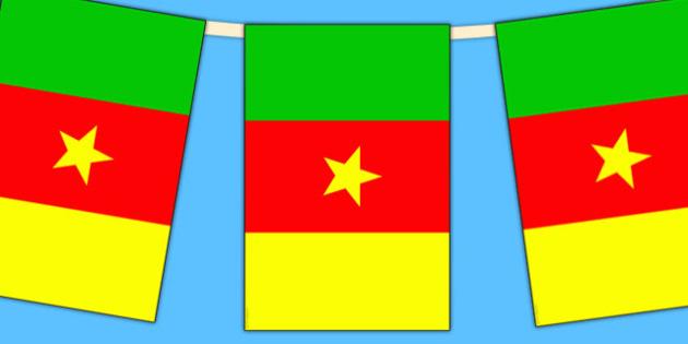 Cameroon Flag Display Bunting - commonwealth, display, flags