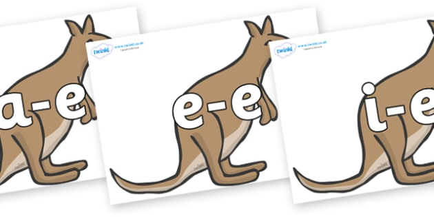 Modifying E Letters on Kangaroos - Modifying E, letters, modify, Phase 5, Phase five, alternative spellings for phonemes, DfES letters and Sounds