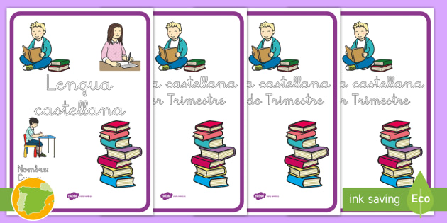 Portadas para cuadernos: Lengua castellana - gramática
