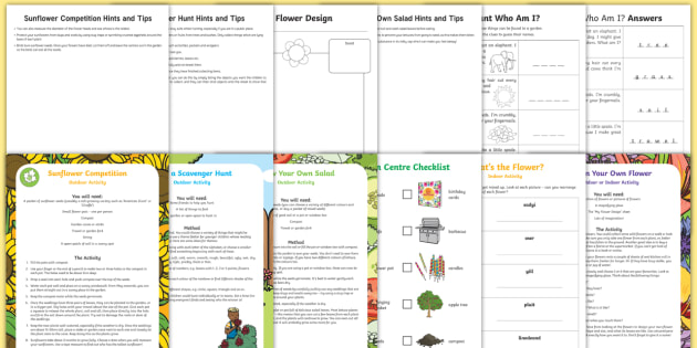 KS1 Summer Fun in the Holidays: In the Garden Activity Pack - parents, home, family, activities, plants, flowers, gardening