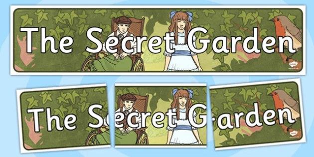 The Secret Garden Display Banner - secret garden, display, banner