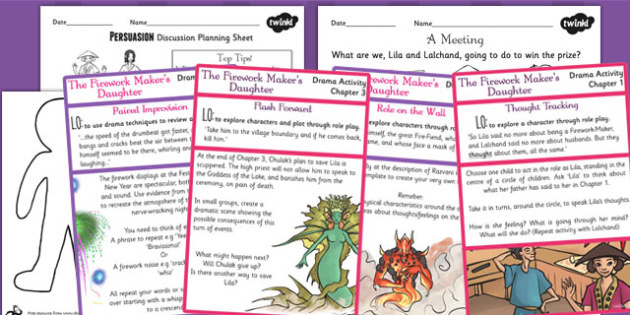 The Firework Maker's Daughter Drama Activities For Each Chapter