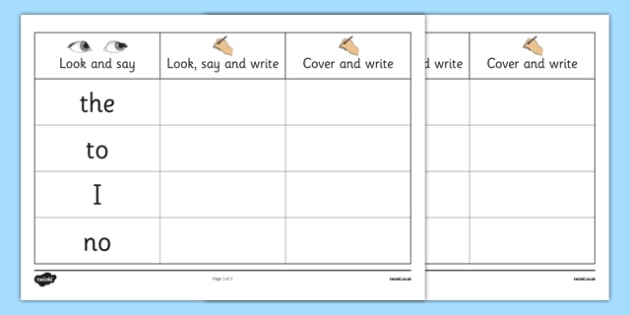 Phase 2 Tricky Words Writing Practice Worksheets - phase 2