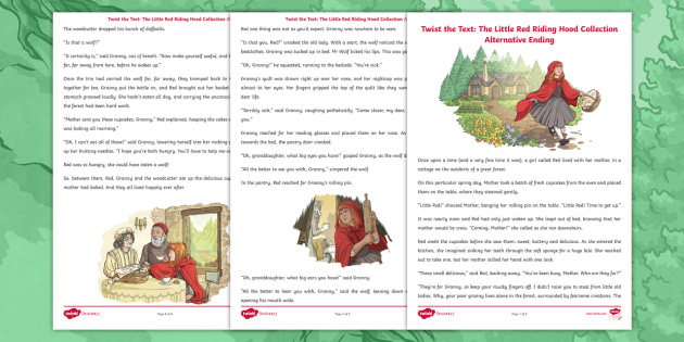 Alternative Ending To Little Red Riding Hood For Key Stage 2