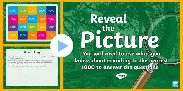 English In Italian: Rounding (Nearest 1000) Reveal The Picture Plenary