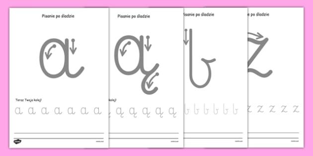Nauka pisania liter po polsku - odręczne, pisanie