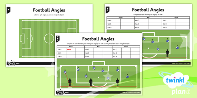 PlanIt Maths Y4 Properties of Shapes Football Angles Home Learning