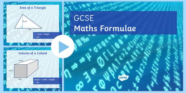 GCSE Maths Formulae PowerPoint - Maths, KS3 KS4, formula, GCSE