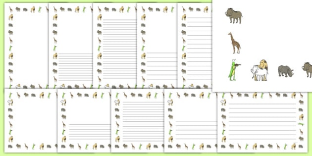 Dancing Giraffe Themed Page Borders Pack - Giraffes, dance, animals, Africa, safari, writing, literacy, frame, template, story, child-initiated,Giraffes Can