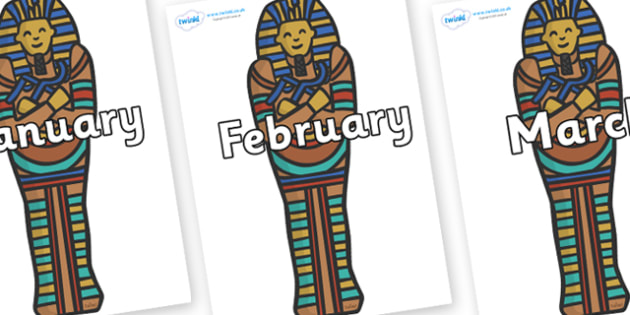 Months of the Year on Sarcophagus - Months of the Year, Months poster, Months display, display, poster, frieze, Months, month, January, February, March, April, May, June, July, August, September
