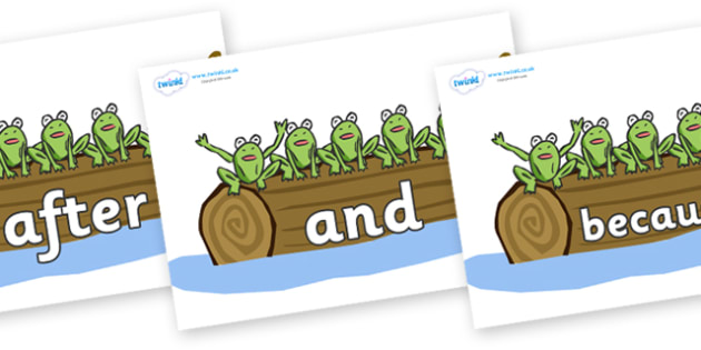 Connectives on Little Speckled Frogs - Connectives, VCOP, connective resources, connectives display words, connective displays
