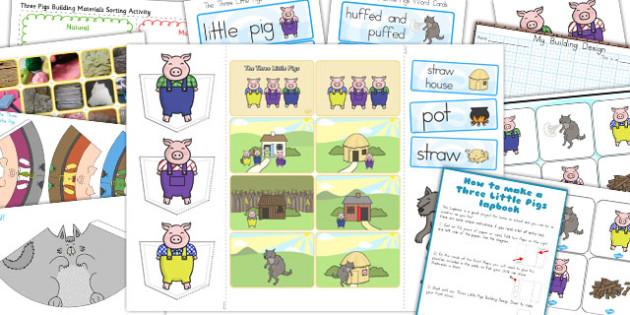 The Three Little Pigs Lapbook Creation Pack - australia, lapbooks