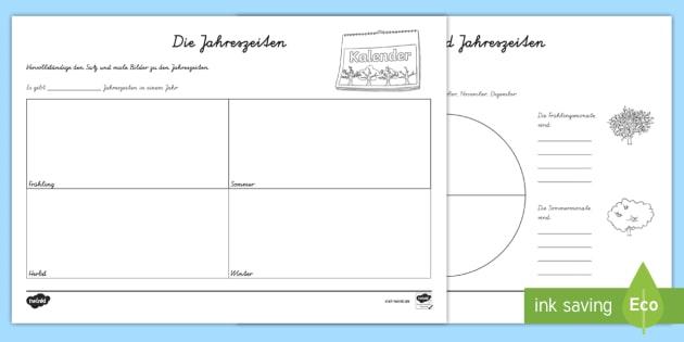 new jahreszeiten und monate arbeitsblatt monat jahreszeit fr hling. Black Bedroom Furniture Sets. Home Design Ideas