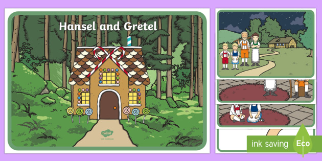 Hansel and Gretel Story Visual Aids - Hansel and Gretel, sequencing, Brothers Grimm, witch, Hansel, Gretel, gingerbread house, fairytale, traditional tale, woodcutter, forest, story, story sequencing, story resources,