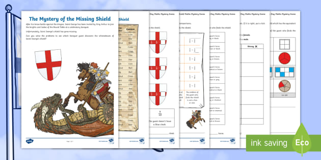 Year 3 The Mystery of the Missing Shield Maths Mystery Game