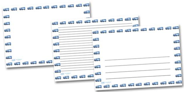 Lorry Landscape Page Borders- Landscape Page Borders - Page border, border, writing template, writing aid, writing frame, a4 border, template, templates, landscape
