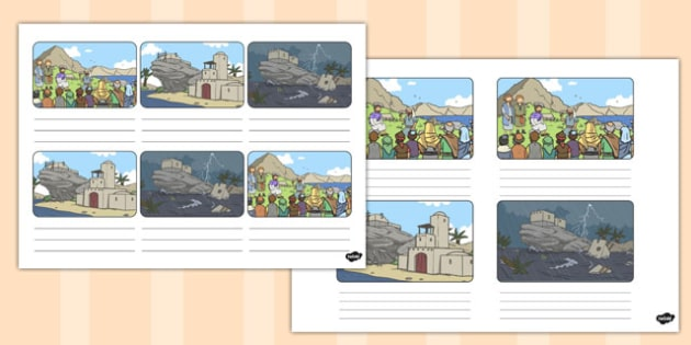The Two Builders Storyboard Template - parables, two builders