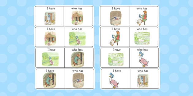 The Tale of Jemima Puddle-Duck 'I Have, Who Has?' Counting Activity