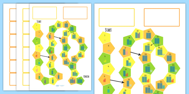 Counting Number Shapes Board Game - shape, shape games, maths
