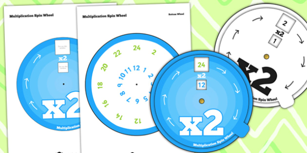 Multiplication Spin Wheel 2 - multiplication, wheel, 2 times