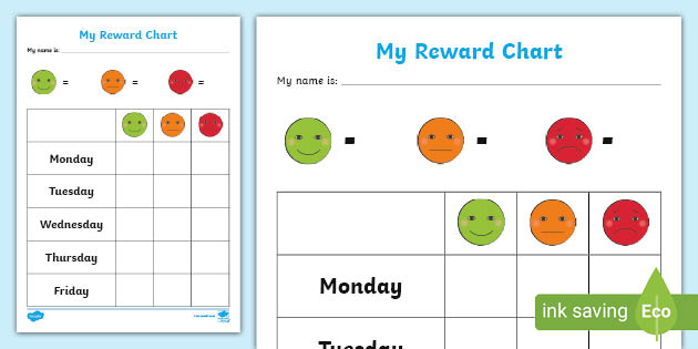 Free Tasks For Children Reward Chart Template Sticker Chart