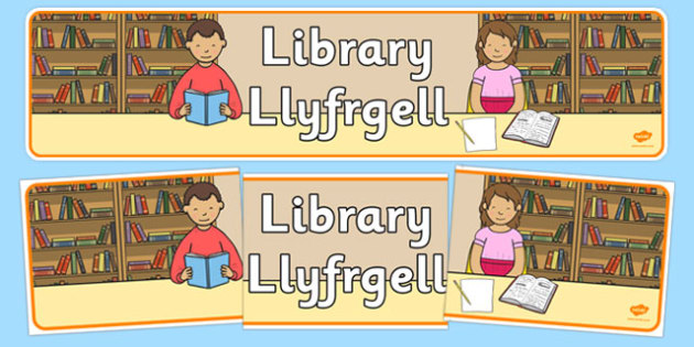 Library Corner Display Banner Welsh Translation - welsh, cymraeg, Foundation Phase, Library, Display Banner