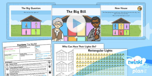 PlanIt Maths Y1 Fractions SolveIt Lesson Pack