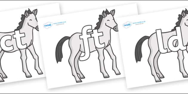 Final Letter Blends on Ponies - Final Letters, final letter, letter blend, letter blends, consonant, consonants, digraph, trigraph, literacy, alphabet, letters, foundation stage literacy