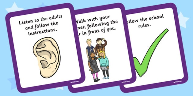 Local Walk Rules Cards - local walk, rules, cards, rules cards