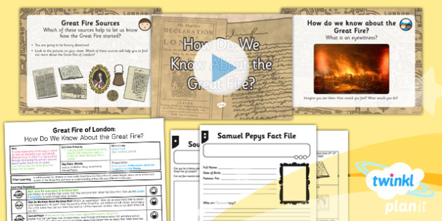 History: The Great Fire of London: How Do We Know About the Great Fire? KS1 Lesson Pack 4