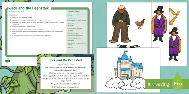 photo relating to Jack and the Beanstalk Story Printable identify Jack and the Beanstalk Minimal International Participate in Principle and Printable